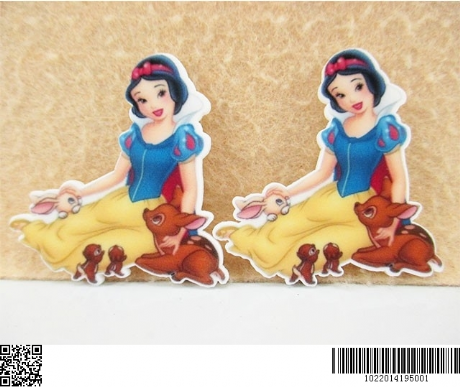 5 x 45MM SNOW WHITE LASER CUT FLAT BACK RESIN HAIR BOWS HEADBANDS CARD MAKING PLAQUES